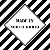 Gjort i Nordkorea Royaltyfri Foto