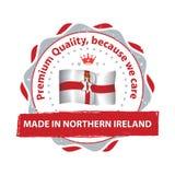 Gjort i nordligt - Irland, högvärdig kvalitet, Fotografering för Bildbyråer