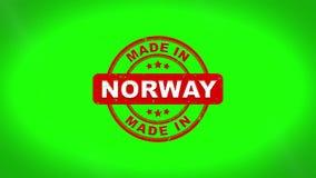 Gjort i NORGE undertecknade stämpling textav trästämpelanimering stock illustrationer