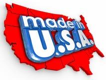 Gjort i produkter för gods för USA Amerika produktion fabriks- Fotografering för Bildbyråer