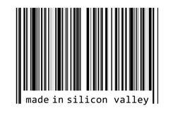 Gjort i Silicon Valley stock illustrationer