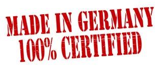 Gjort i Tyskland hundra procent auktoriserad revisor stock illustrationer