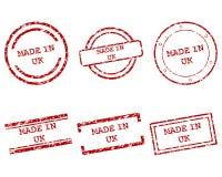 Gjort i UK-stämplar Royaltyfria Bilder