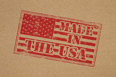 Gjort i USA Arkivbild