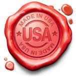 Gjort i USA den kvalitets- etiketten Arkivbilder