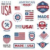 Gjort i USA designerna Fotografering för Bildbyråer