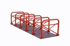 Gjort stål för cykel parkering Arkivfoto
