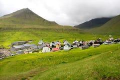 Gjov Faroe Island Imagem de Stock