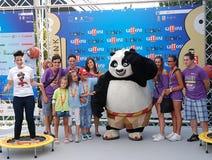 Gjuta den del Filma Kung Fu Panda 2 alGiffoni filmfestivalen 2011 Arkivfoto