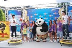 Gjuta den del Filma Kung Fu Panda 2 alGiffoni filmfestivalen 2011 Arkivbild