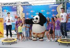 Gjuta den del Filma Kung Fu Panda 2 alGiffoni filmfestivalen 2011 Arkivfoton