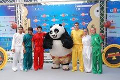 Gjuta den del Filma Kung Fu Panda 2 alGiffoni filmfestivalen 2011 Fotografering för Bildbyråer
