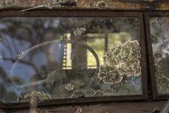 Gjuta på en vindruta Fotografering för Bildbyråer