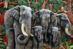 gjutit elefantdiagram Arkivbilder