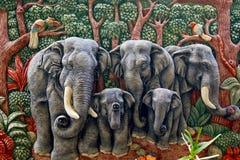 gjutit elefantdiagram Royaltyfri Bild