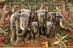 gjutit elefantdiagram Royaltyfria Bilder