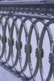 Gjutjärngaller, St Petersburg, Ryssland, vinterfoto royaltyfri bild