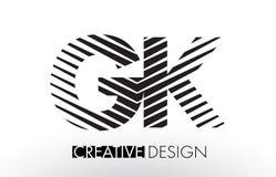 GK G K Wykłada Listowego projekt z Kreatywnie Elegancką zebrą ilustracji