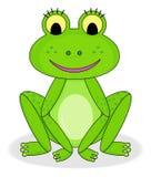 Glücklicher lächelnder Frosch lizenzfreie stockfotos