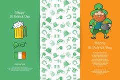 Glückliches St. Patrick Day stock abbildung