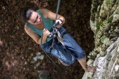 Glädje av klättringen Royaltyfria Bilder