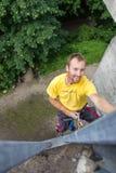 Glädje av klättringen Royaltyfri Foto