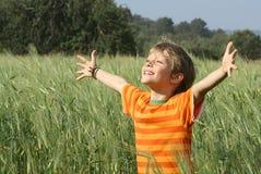 glädje för barntrolycka Fotografering för Bildbyråer