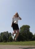 glädjebanhoppning fotografering för bildbyråer