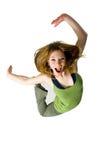 glädjehopp Fotografering för Bildbyråer