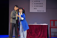 Glädjen av den historiska stilsången för möte- och magisk magi för dansdrama - Gan Po Arkivfoton