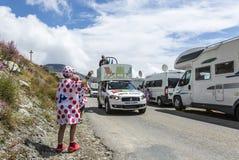 Glädjen av publicitethusvagnen - Tour de France 2015 Arkivbilder