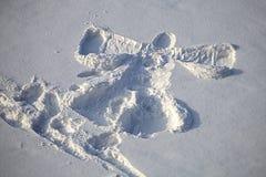Glädjen av snö för juldag Royaltyfri Foto