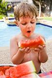 glädjeoh vattenmelon Royaltyfria Bilder