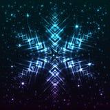 Glänsande abstrakt stjärnasnöflinga Fotografering för Bildbyråer
