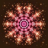 Glänsande abstrakt stjärnasnöflinga Royaltyfri Fotografi