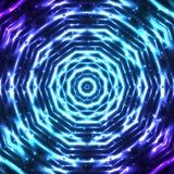 Glänsande abstrakt stjärnasnöflinga Arkivbilder
