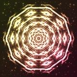 Glänsande abstrakt stjärnasnöflinga Arkivfoto