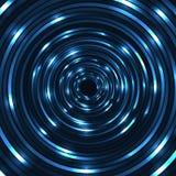 Glänsande cirkel för vektor Runt neonbaner Arkivfoto