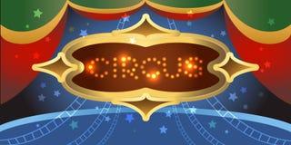 Glänsande cirkusaffisch Royaltyfri Fotografi