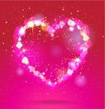 Glänsande hjärta Arkivfoton