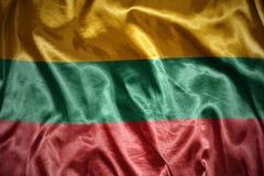glänsande lithuanian flagga Arkivfoton