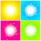 Glänsande ljus sol vektor illustrationer