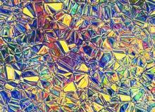 Glänsande mångfärgat crystal genomskinligt exponeringsglas för lättnad Arkivfoto