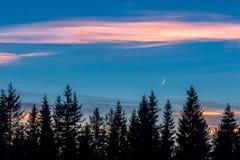 Glänsande moln Arkivbild