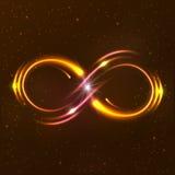 Glänsande oändlighetssymbol Arkivbilder