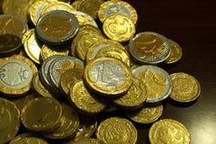 Glänsande pengar för godis Royaltyfria Bilder
