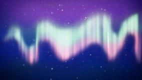 Glänsande polara ljus på natten vektor illustrationer