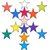 Glänsande stjärnor Royaltyfri Foto