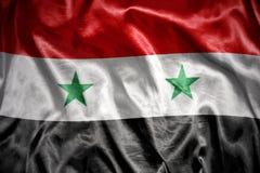 glänsande syriansk flagga Royaltyfri Bild