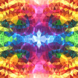 Glänsande trianglar för regnbågefärgabstrakt begrepp Royaltyfria Bilder